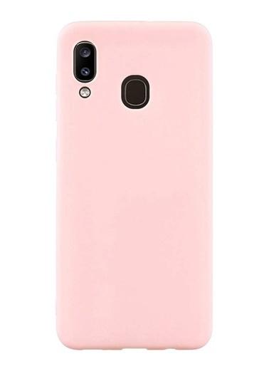 MobilCadde Eiroo Lansman Samsung Galaxy A20 / A30 Pembe Silikon Kılıf Pembe